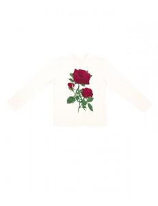 """Джемпер для девочек кремовый """"Три розы"""""""