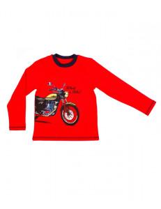 """Джемпер для мальчиков красного цвета """"мотошоу"""""""
