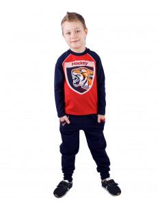 """Комплект для мальчиков сине-красного цвета """"тигр"""""""